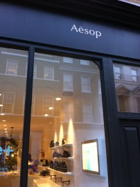 Aesop store in Convent Garden, London