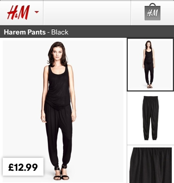 "I'm ""efed"" if I don't get these essential Harem Pants... Team with a simple vest top and statement headwrap... I'll have heads turning!"