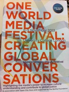 One World Media Festival Nov 2013