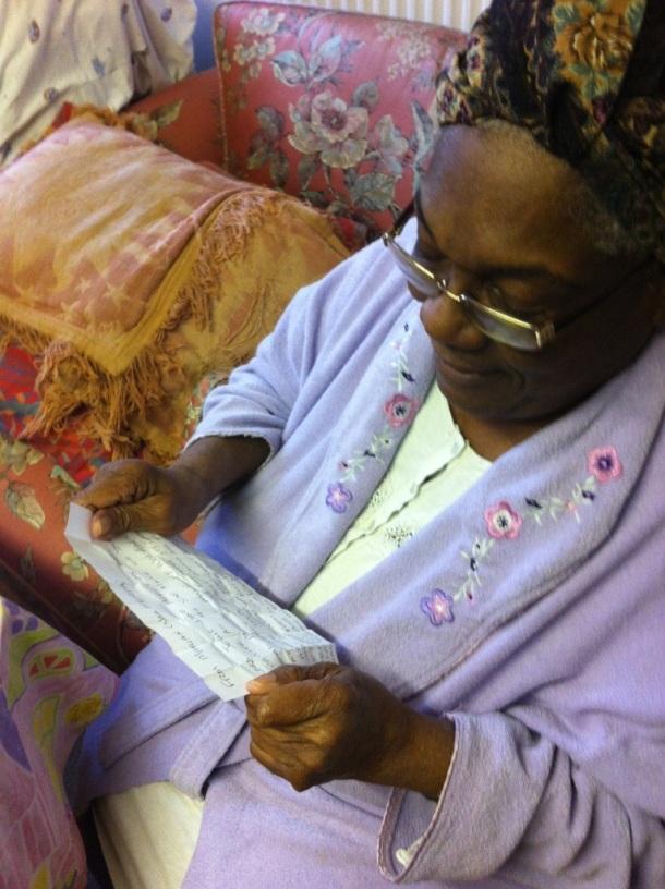Reading her Letter...