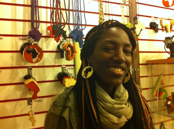My statement: Africa earrings from Mzansi