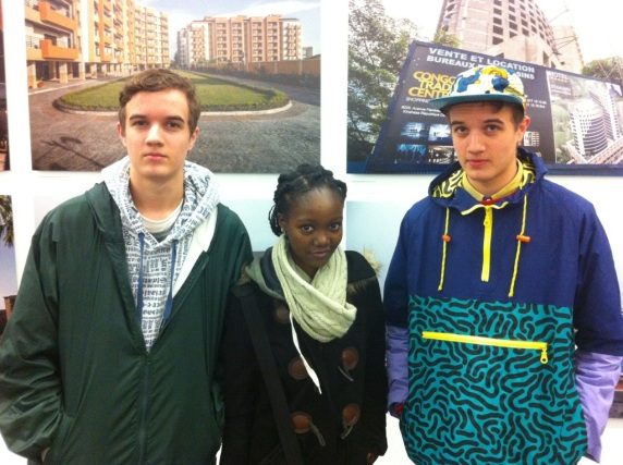 A visit from South Africa: Sam with his brother Joe and friend Nikki visiting the exhibition