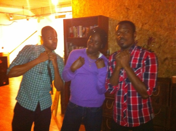 Black Egyptians writer, Segun and friends, join us at the afterparty in the Mella Center