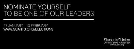Nominate yourself - represent other students! http://www.suarts.org/elections