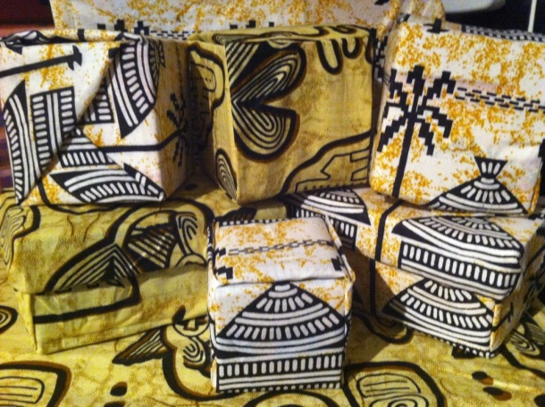 A few Sankofa Boxes... Look out of the matching accessories!
