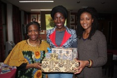 With Moyoress Awula Serwah, myself and Grace