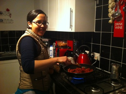 Rebecca cooks Mexican tapas for dinner