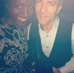 wrapstar with actor and events organiser Luigi