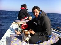 Good friends: Karim and Rashwan take us fishing