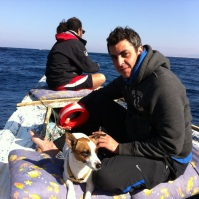 Good friends: Karim and Rashwan take us fishing