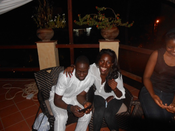 With Chris and friends last year @La Villa Boutique, Accra Ghana