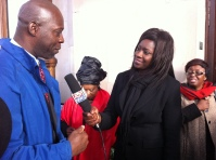 Joy News reporter Natasha Adade speaks to well-wishers.