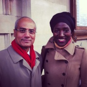 """Very exciting moment when I told George Alagiah that I'm an aspiring journalst... And he responded """"Good luck with your course!"""" I will need it :D"""