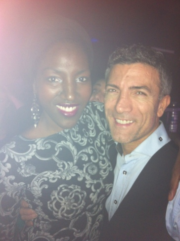 I'm taller than everyone in heels! with actor, Luigi Consoli