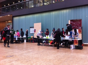 The event space with various stalls