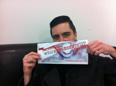 BA PR student Hayden shows his support!