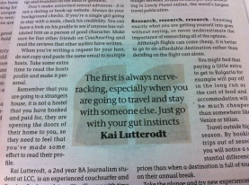 A quote: I'm in Arts London News!