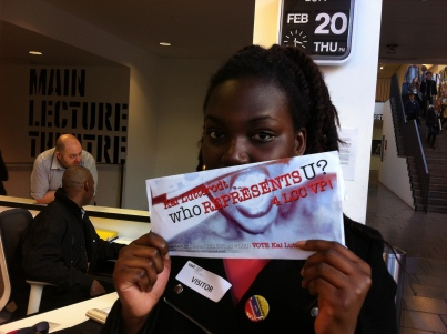 NUS BSC and NUS Women's committee Barbara shows her support.... My siStar!