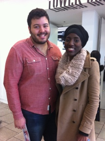 With Aaron who had been working hard supporting Mostafa re-running for culture and diversity