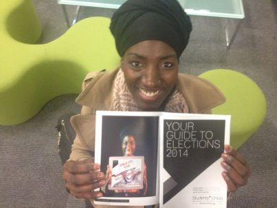 My picture in the candidate booklet taken by BA Photography student Will Scott. Vote now www.suart.org/vote