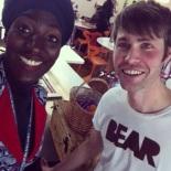 Selfie with Dan at LCC canteen