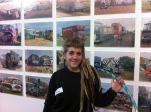 Anita: visitor to Life on the Road exhibition