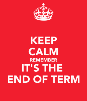 Keep calm – school's out for the Easter!