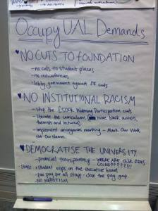 List of demands...