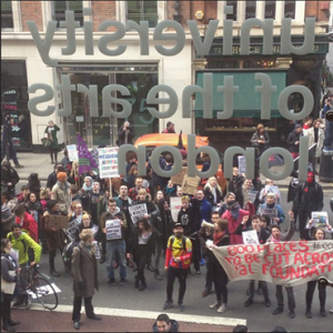 UAL High Holborn protest shared on Facebook